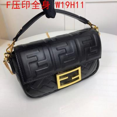 cheap quality Fendi Bags full embossed F Logo Black